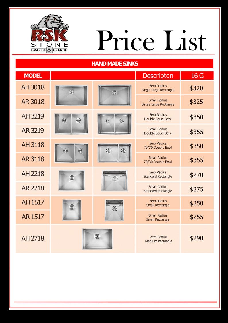 Price List 1