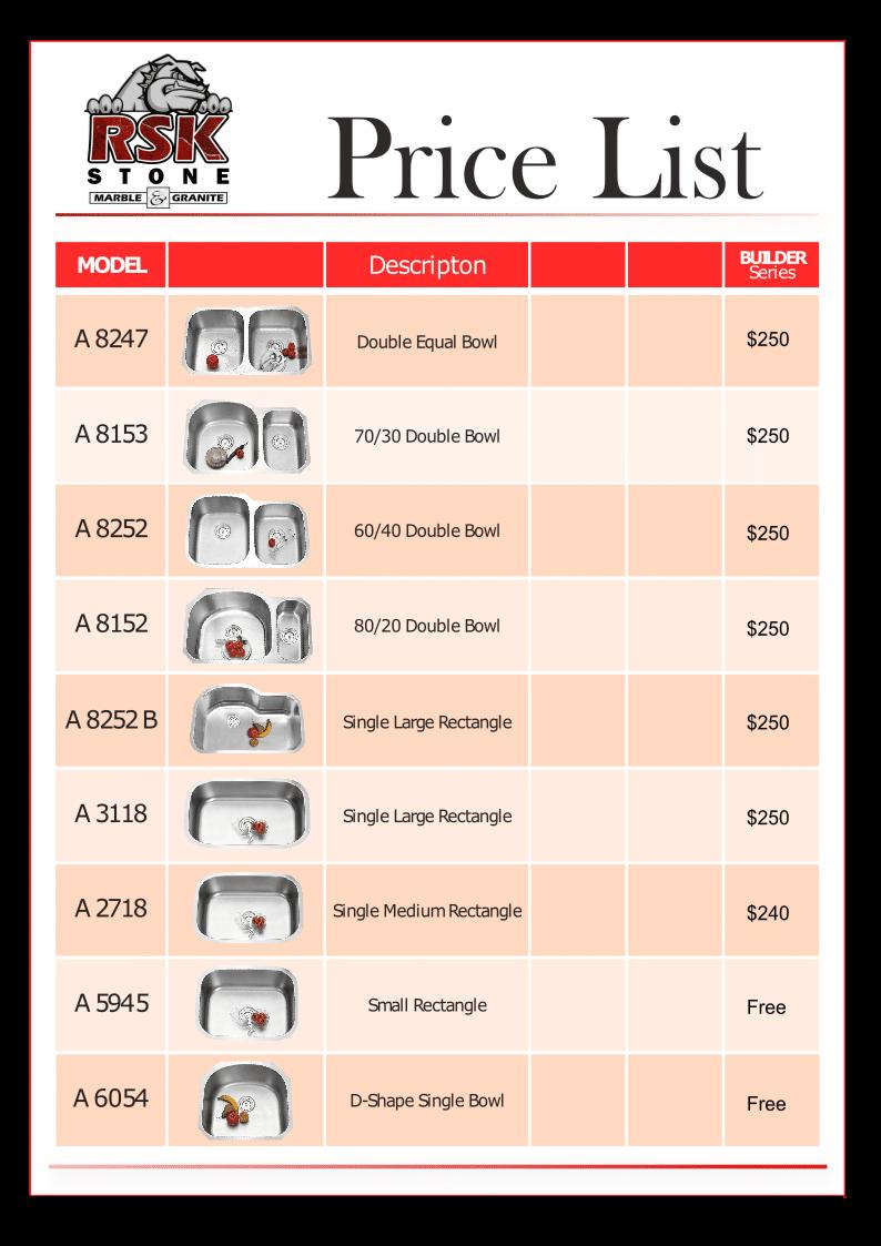 Price List 2